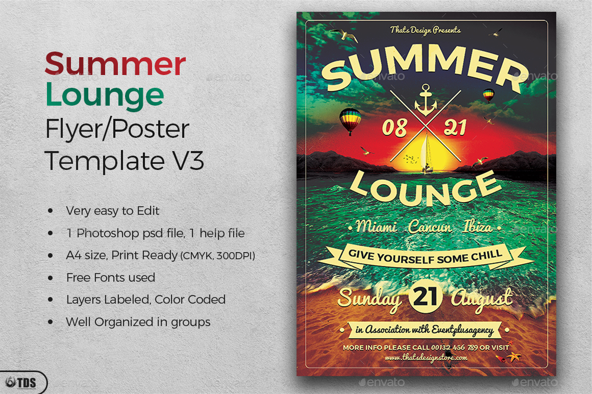 summer lounge flyer template v3 by lou606