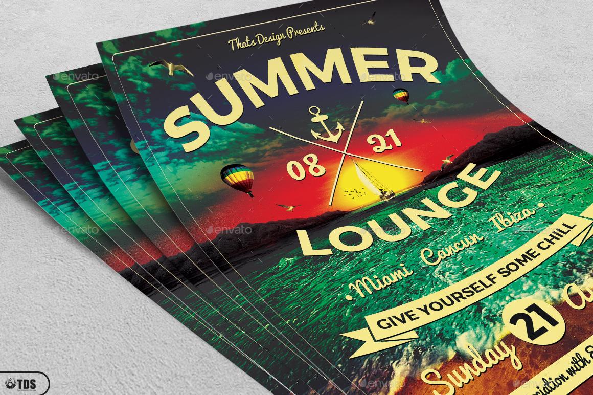 01_Summer Lounge Flyer Template V3 02_Summer Lounge Flyer Template  V3 ...