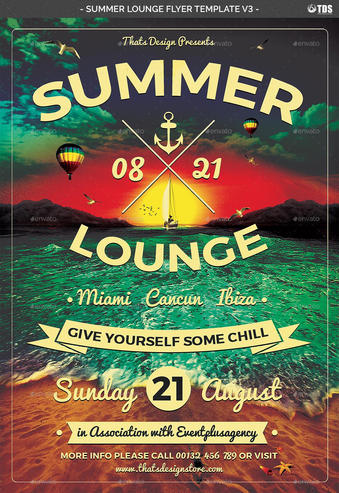 01_Summer Lounge Flyer Template V3 02_Summer Lounge Flyer Template  V3 03_Summer Lounge Flyer Template V3 ...