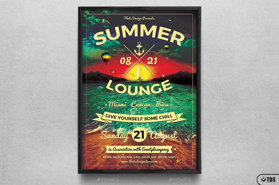 ... Lounge Flyer Template V3