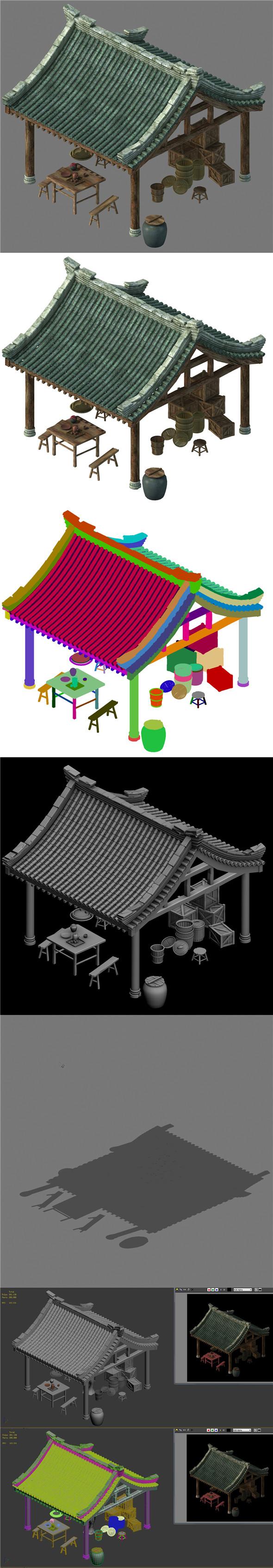 Huaihe River Building - Shop 02 - 3DOcean Item for Sale