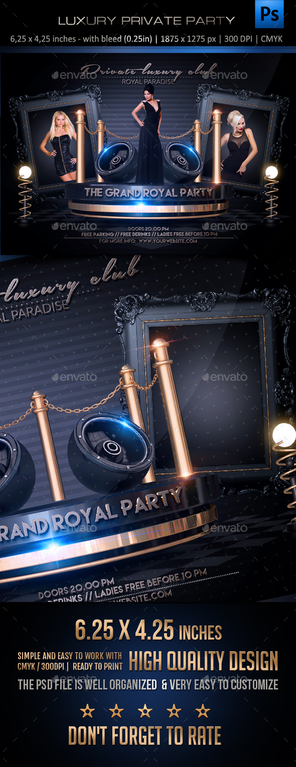 Luxury Private Party Flyer - Clubs & Parties Events