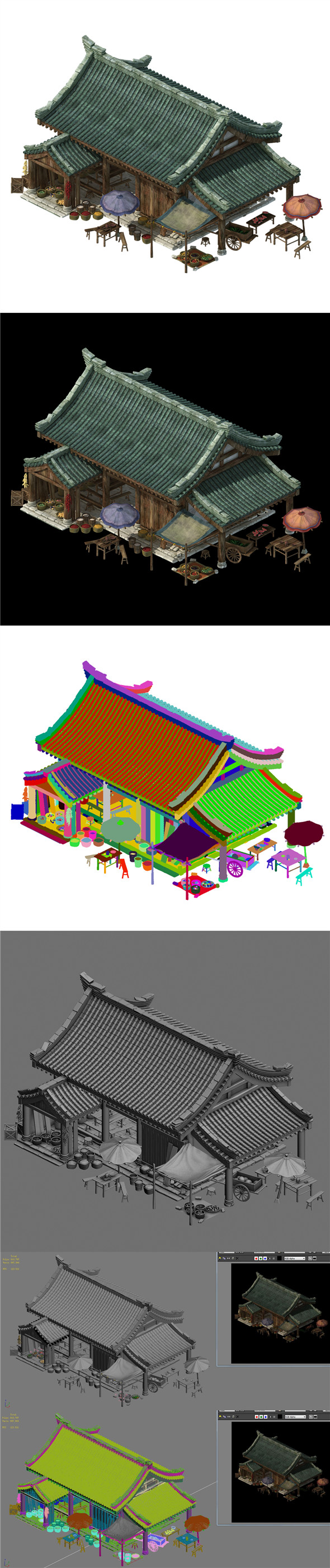 Huaihe River Building - Shop 03 - 3DOcean Item for Sale
