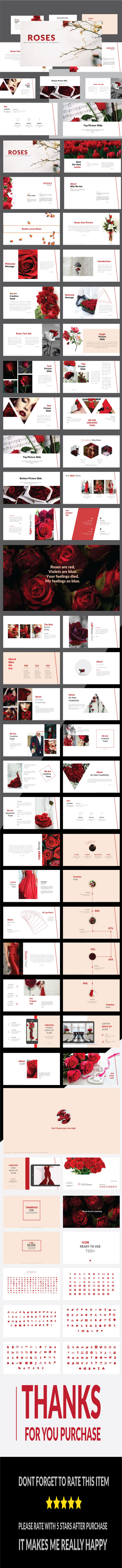 Roses - Multipurpose PowerPoint Template - Business PowerPoint Templates