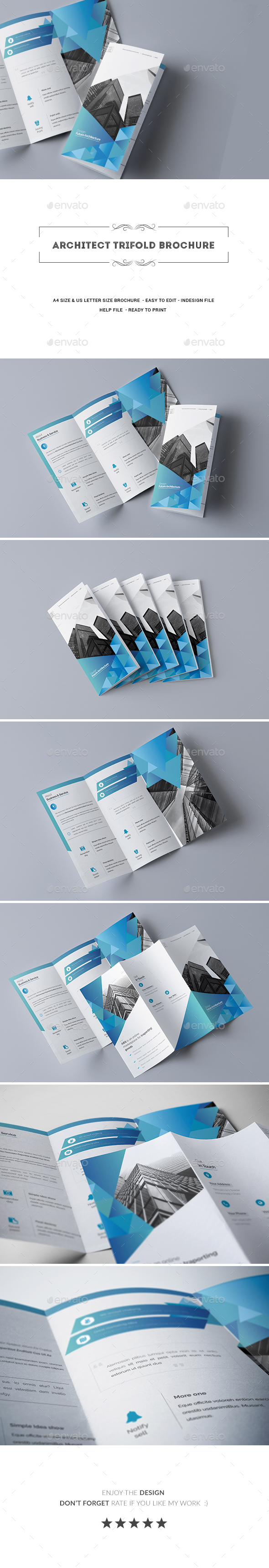 Architect Trifold Brochure - Brochures Print Templates