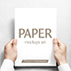Paper Mockups Set - GraphicRiver Item for Sale