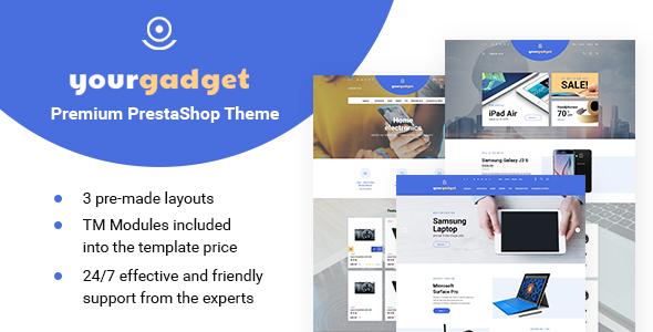 Gadget – Electronics Responsive PrestaShop 1.6 theme