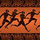 Ancient Greek Runners On Amphora