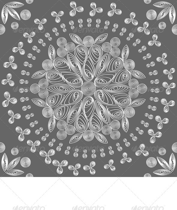 vector seamless floral lace white pattern - Patterns Decorative
