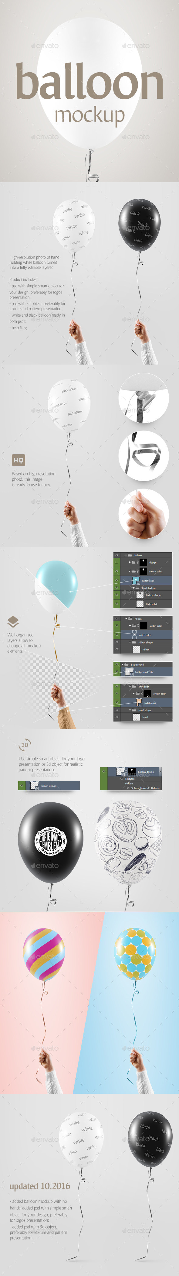 Balloon Mockup - Miscellaneous Print