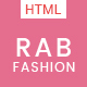 RAB - Fashion eCommerce HTML5 Template - ThemeForest Item for Sale