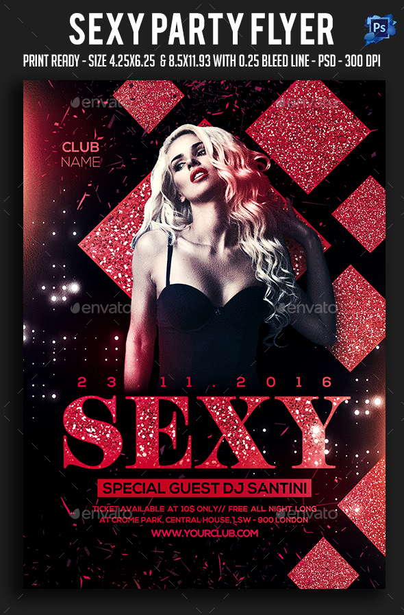 Sexy Party Flyer - Clubs & Parties Events