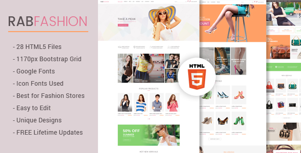 Image of RAB - Fashion eCommerce HTML5 Template