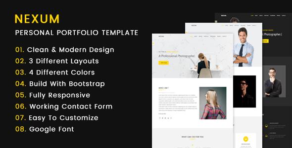 NEXUM – HTML5 Personal Portfolio Template