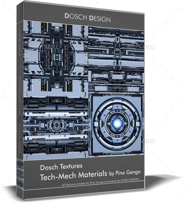 DOSCH Textures: Tech-Mech Materials - 3DOcean Item for Sale