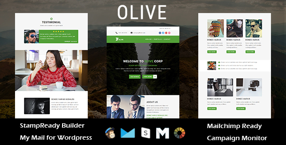 OLIVE - Multipurpose Responsive Email Template with Stampready Builder Access - Newsletters Email Templates