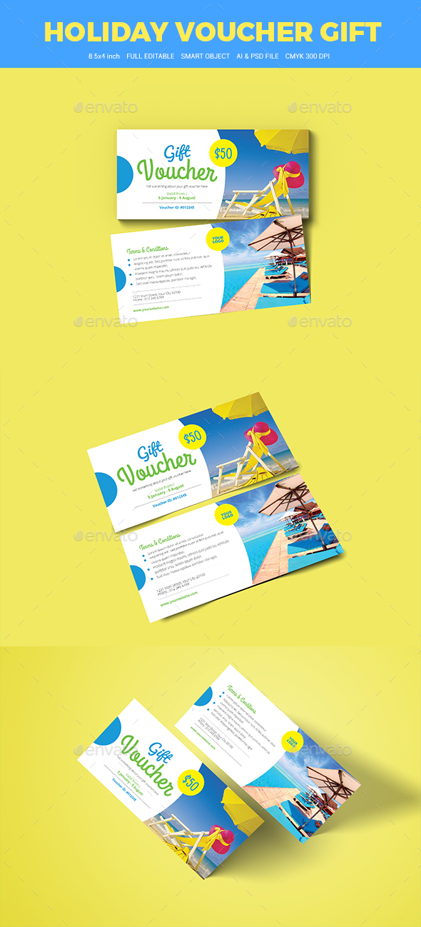 Holiday Travel Voucher - Loyalty Cards Cards & Invites