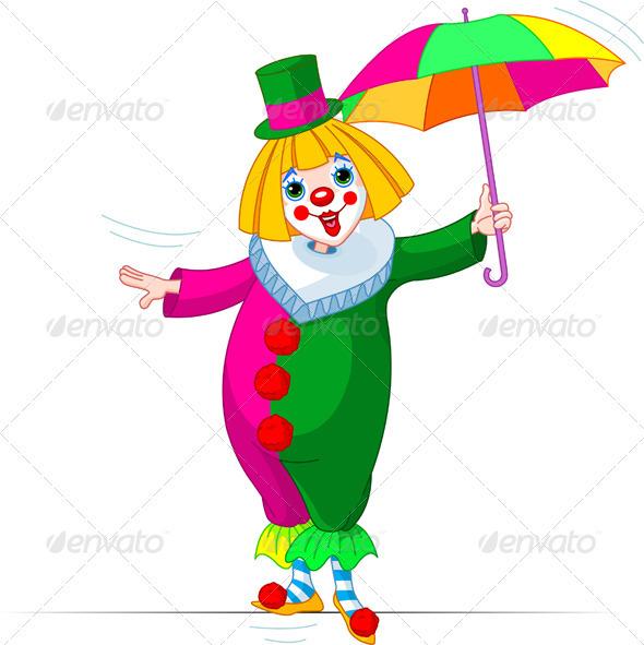 Rope-walker Clown - People Characters