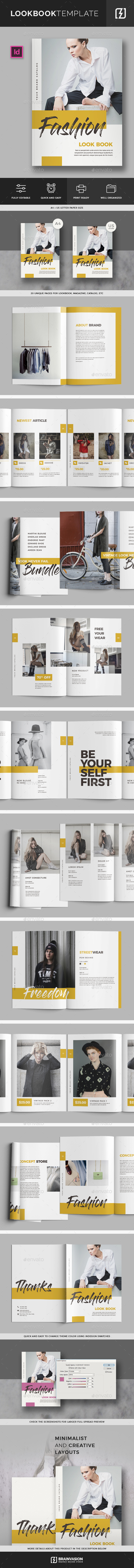 Lookbook/Fashion Magazine Template - Magazines Print Templates