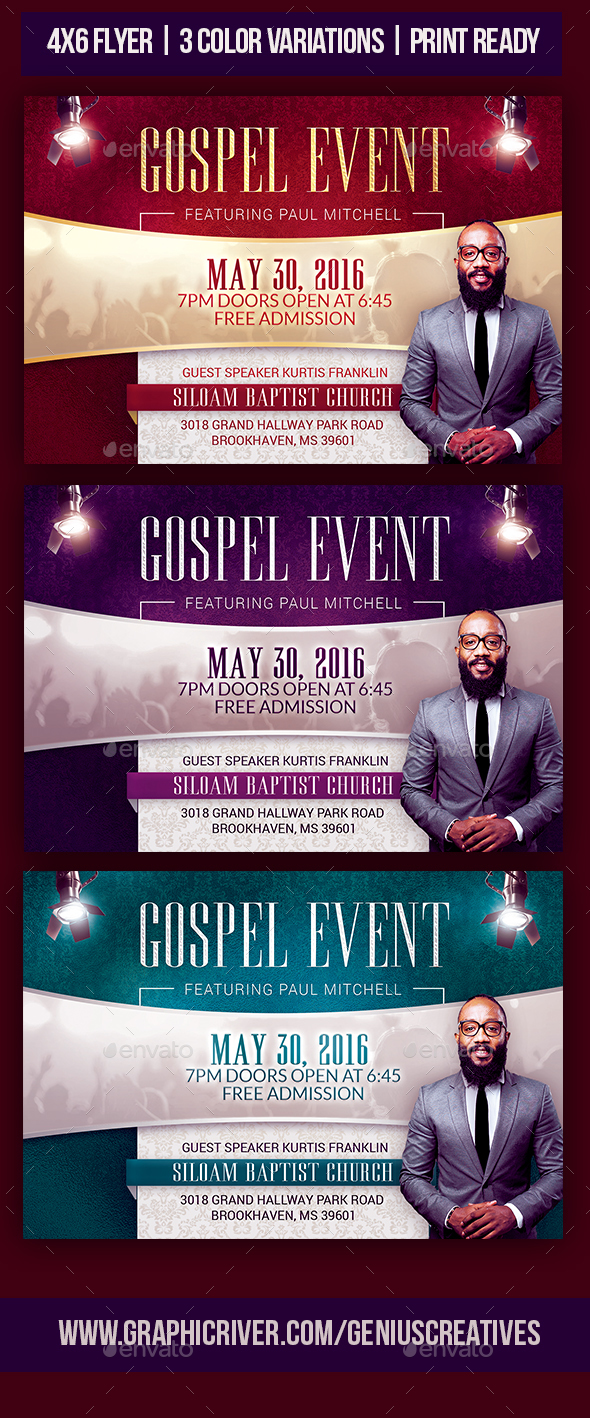 Gospel Event Church Flyer - Print Templates