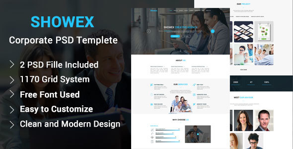 SHOWEX – Corporate PSD Template