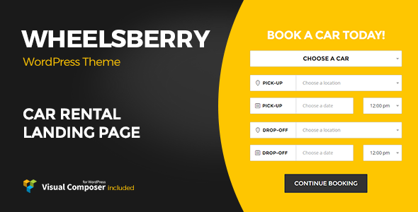 Wheelsberry – Car Rental WordPress Theme / Landing Page - Business Corporate