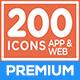 200 Premium Icons