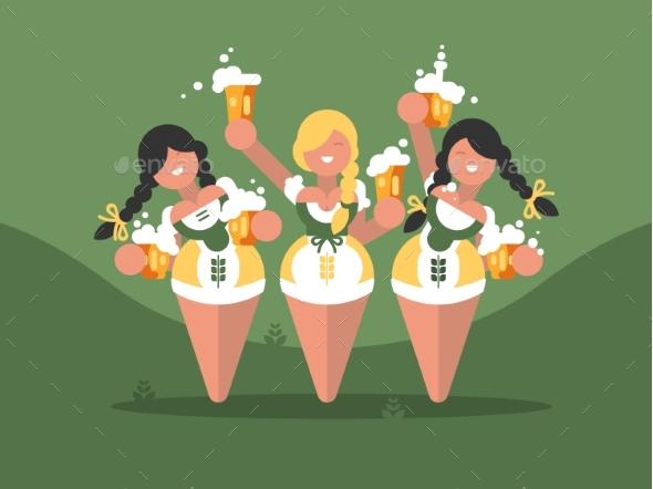 Beer Festival Oktoberfest - Miscellaneous Vectors