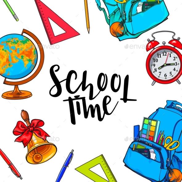School Items Background - Miscellaneous Vectors