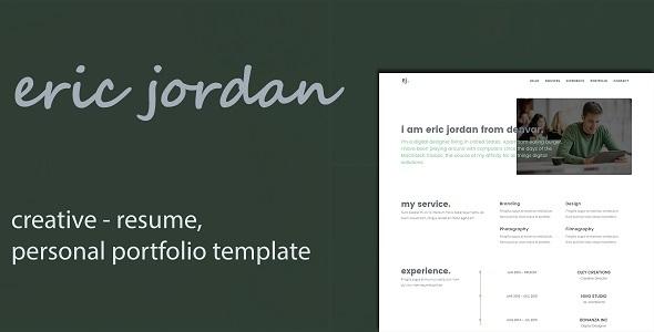 Eric - Creative Personal Portfolio /CV / Resume Template