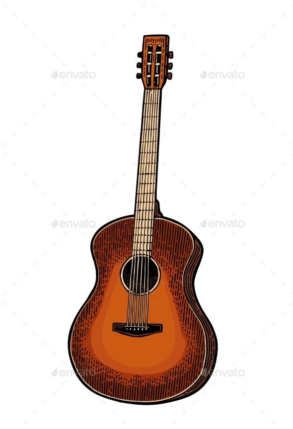 Acoustic Guitar - Miscellaneous Vectors