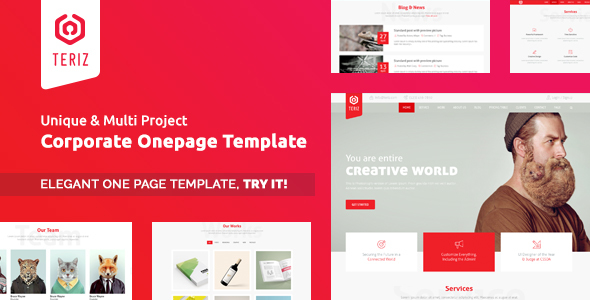 Teriz – Corporate Multipurpose Onepage HTML Template