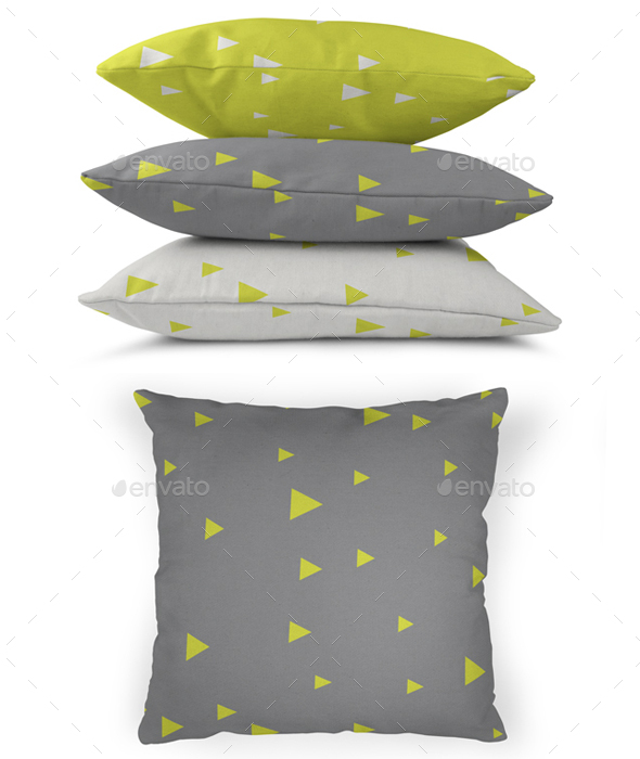Realistic Canvas Pillow Mock-Up - Miscellaneous Print