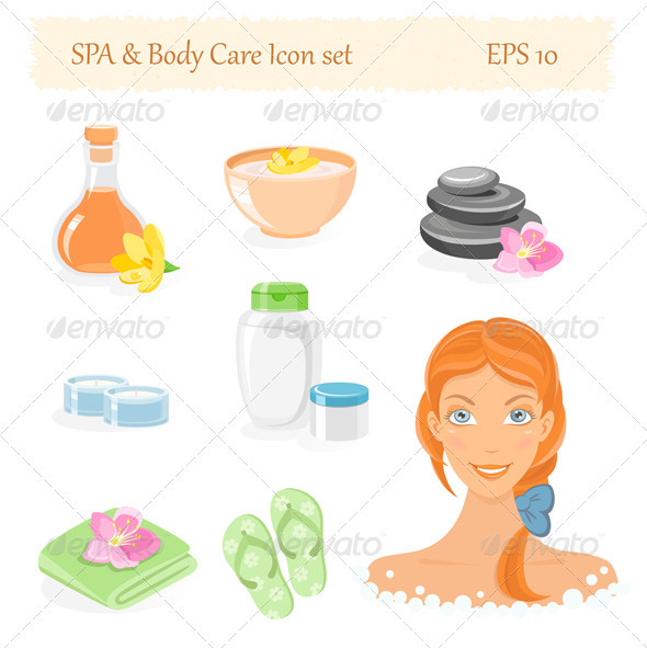 SPA And Body Care Icon Set - Conceptual Vectors