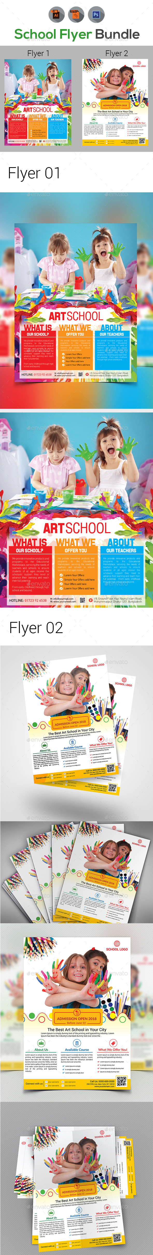 Arts School Flyers - Corporate Flyers