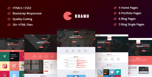 Khamu | Corporate, Business, Portfolio, Digital Agency HTML5 Template - Business Corporate