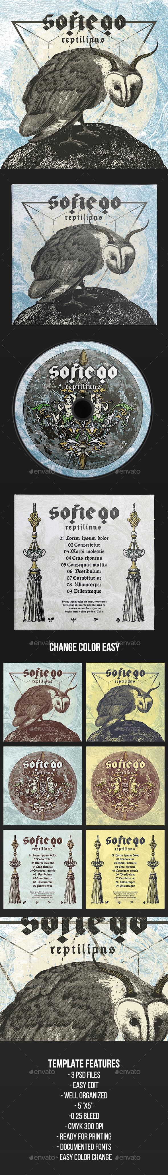 Sofiego - CD Cover Artwork Template - CD & DVD Artwork Print Templates