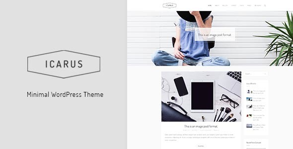 Icarus – Personal Blog WordPress Theme