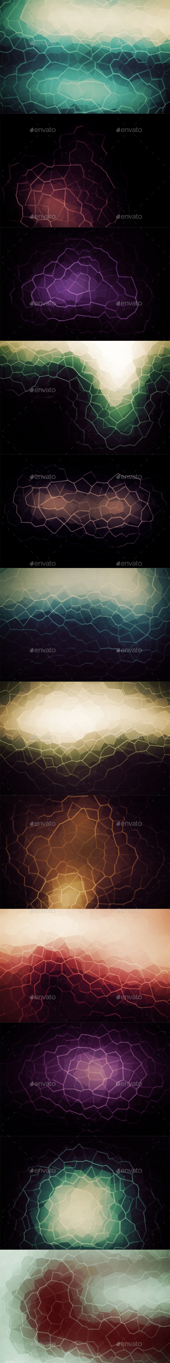Crystallized Backgrounds Vol18 - Abstract Backgrounds