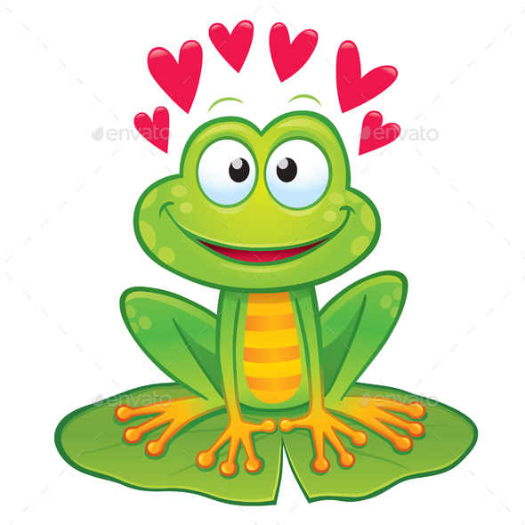 Valentine's Day Frog - Valentines Seasons/Holidays