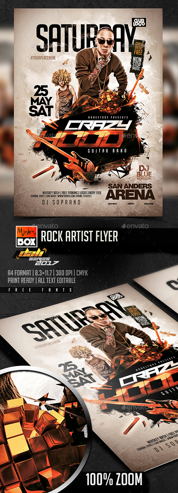 Rock Artist Flyer - Events Flyers