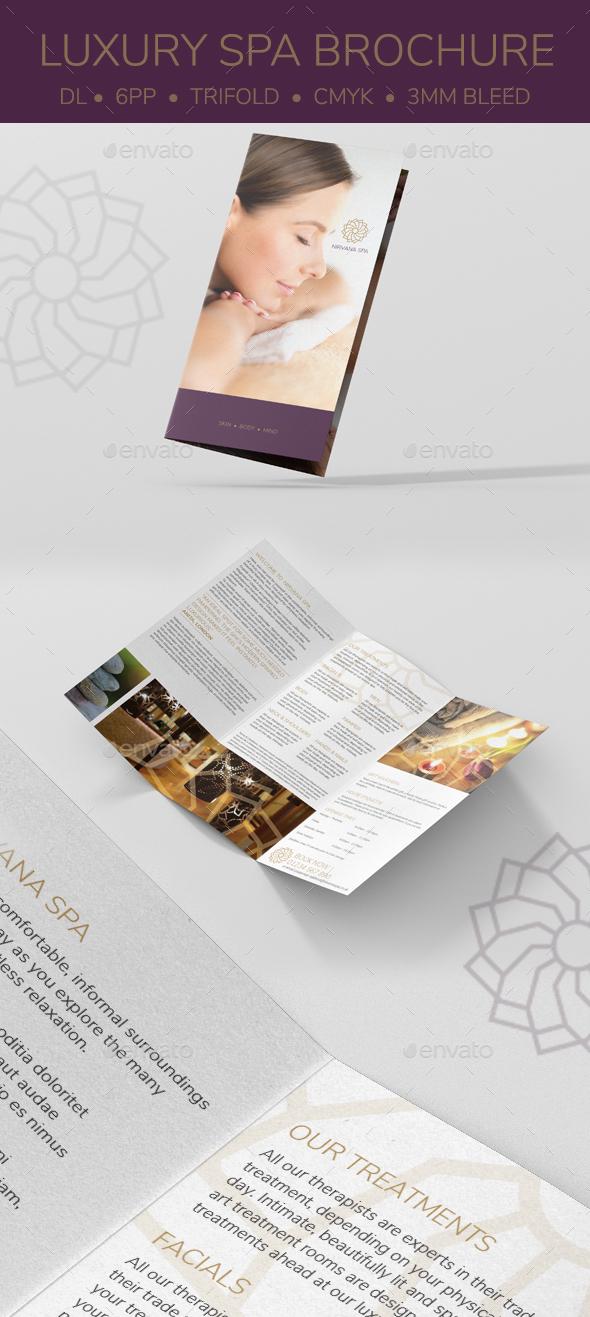 Luxury Spa DL Brochure - Brochures Print Templates