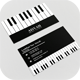 Business Card Piano - GraphicRiver Item for Sale