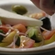 Greek Salad  is Dressed with Olive Oil