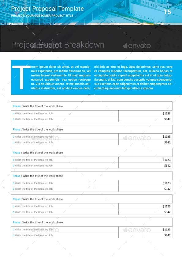 Project Proposal Template By Keboto Graphicriver