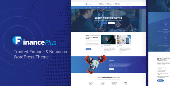FinancePlus - Finance and Business WordPress Theme - Business Corporate
