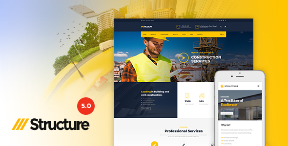 Structure - Construction WordPress Theme - Business Corporate