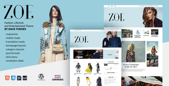 Zoe – Fashion, Lifestyle and Entertainment News Theme