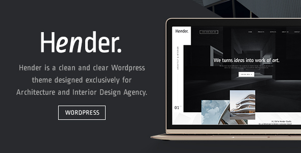 Hender - Architecture and Interior Design Agency WordPress Theme - Creative WordPress