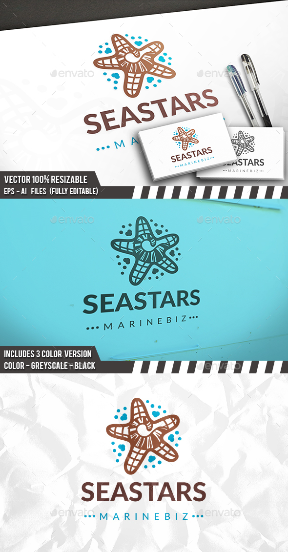 Sea Star Logo Template - Objects Logo Templates